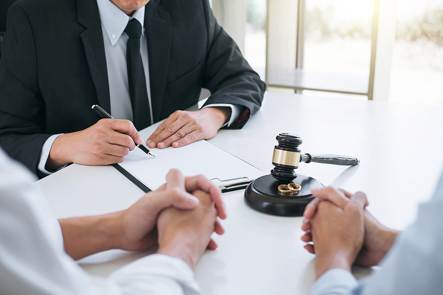 A couple meeting a family lawyer in Campbelltown